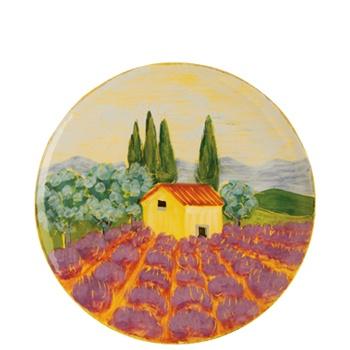 169  Round Lavender Field Wall Plate - www.tradewindsdecor.com