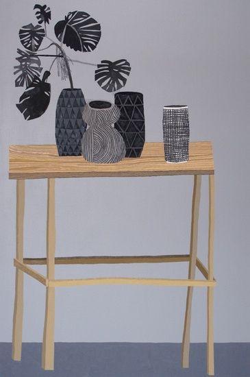 jonas wood, untitled (still life on table), 2010