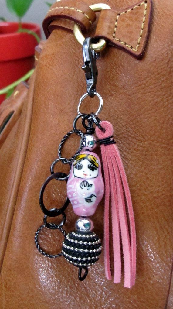MINI Matryoshka muñeca de anidación monedero por ThePaintedCabeza