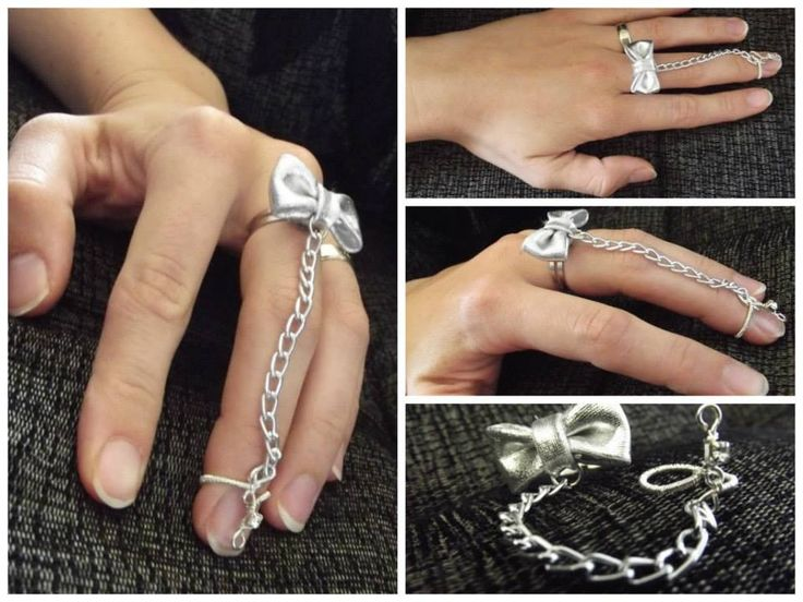 Nail ring with a chain