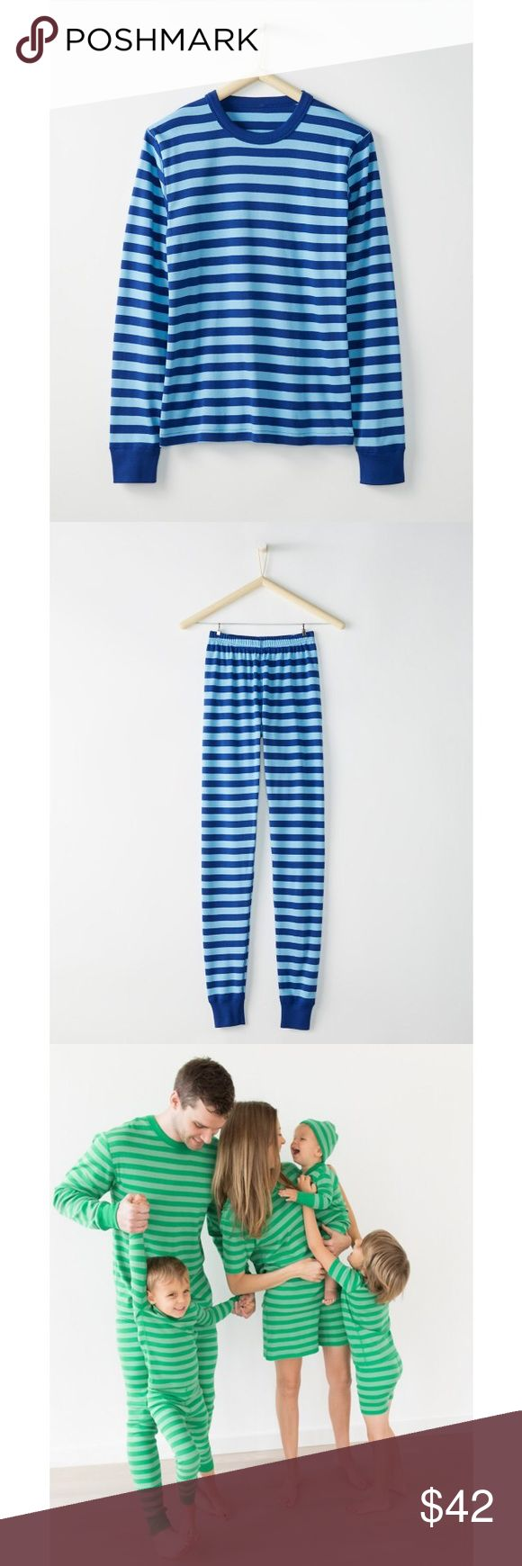 Hanna Andersson adult long John pj's EUC- worn twice! Great for Christmas card photos! It's a navy and cobalt blue stripe. Size M. They sell these for $44 each on the website! Hanna Andersson Other
