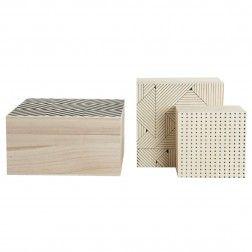 Set 3 scatole Geometric