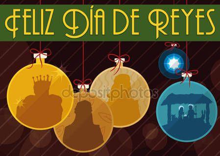 Traditional Three Magi and Nativity Scene like Christmas Tree's Ball