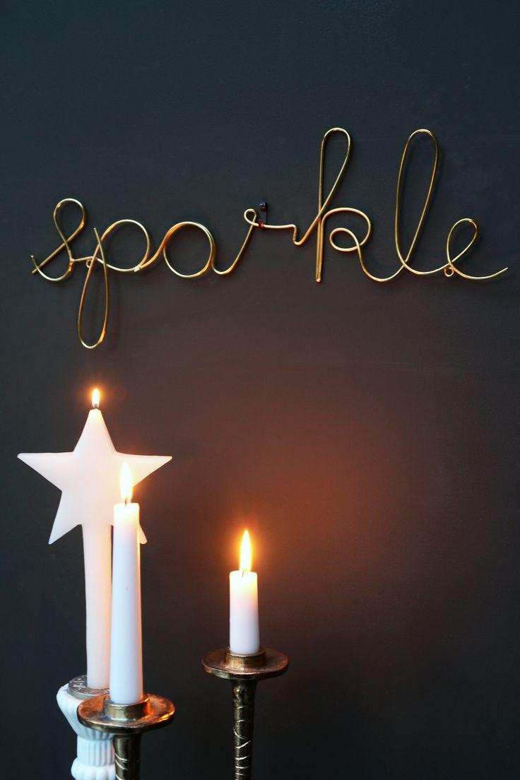Gold Sparkle Sign - Rockett St George