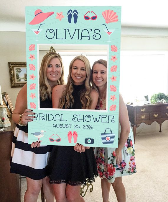 Bridal Shower Photo Prop - Beach Photo Prop - PDF - Bachelorette Photo Prop - Girls Weekend - Beach Wedding - Printed Option Available