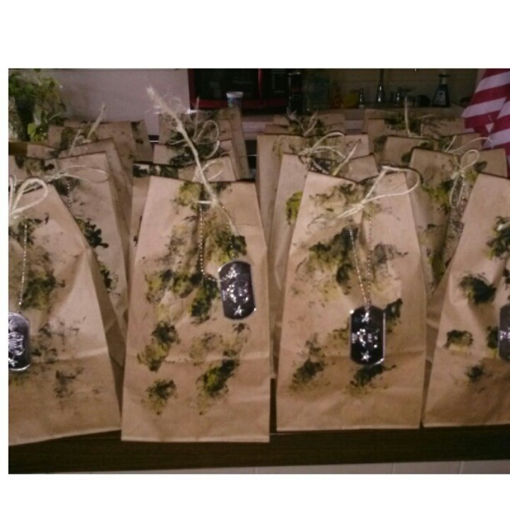 DIY -Army goodie bags | Army Birthday party! | Pinterest ...