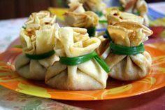 Рецепт-Блинные мешочки   Детская еда