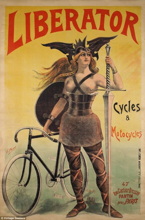 French advertising poster from 1899 for bicycle company