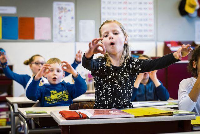 Op basisschool Het Kofschip in Zevenaar wordt een effectieve spellingmethode gegeven, weinig leerlingen hebben last van dyslexie.