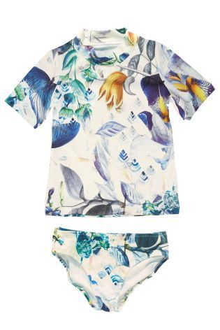 Floral Print Sun Safe Two Piece Set (3-16yrs)