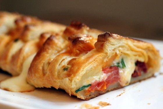 Feuilleté de Chorizo et Mozzarella.