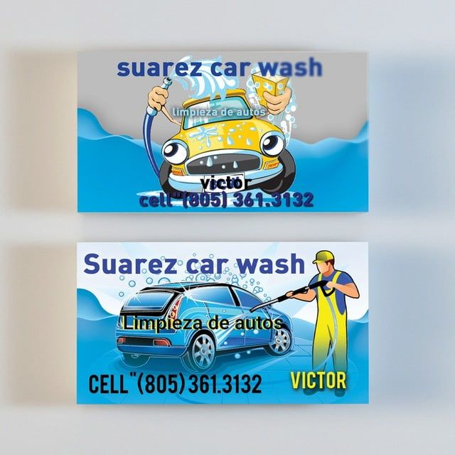 غسيل السيارات بطاقة الأعمال Car Wash Business Free Business Card Templates Car Wash