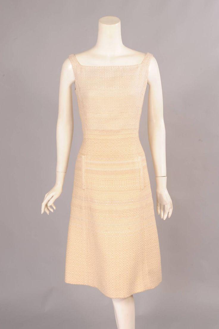 Pierre Balmain Haute Couture Coat & Dress Ensemble, Oscar de la Renta 1990