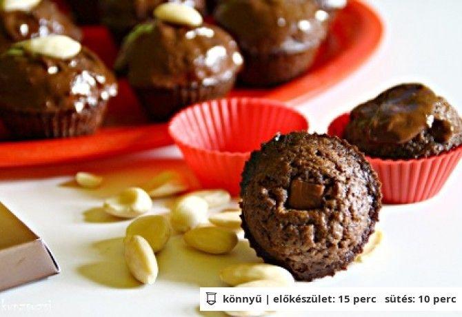 Mandulás-csokis muffin egészségesebben