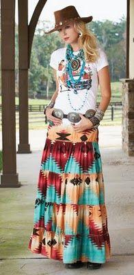 Western Cowgirl Dress ~ Ladies Fashion Style