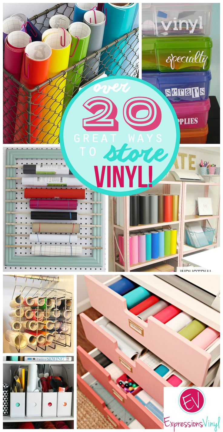 Cheap vinyl for crafts - Over 20 Great Ways To Store Your Craft Vinyl