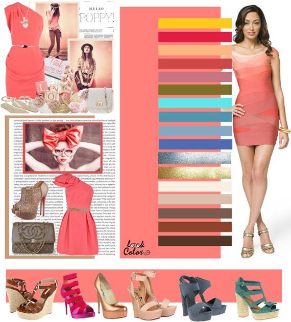 Коралловый светло-розовый цвет сочетается с