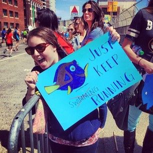 Dory knows what's up. | The 42 Best Signs From The Boston Marathon