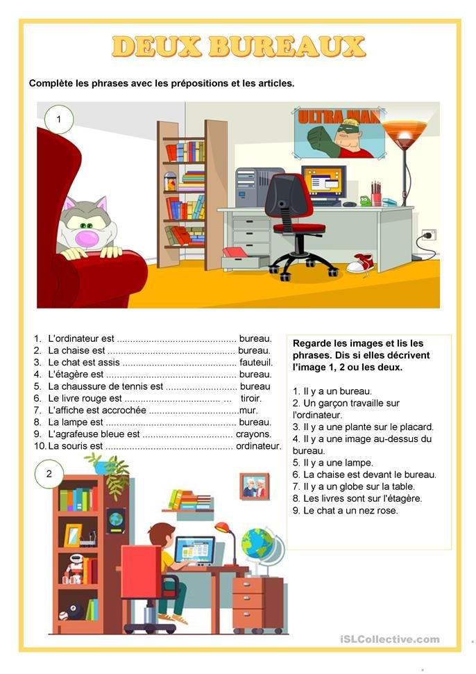 Deux Bureaux Prepositions En 2020 Exercice Francais Ce2 Preposition Fiches Pedagogiques