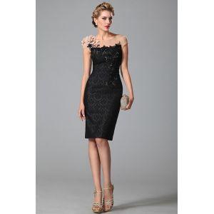 Стильное черное платье 2015 с блестящими пайетками