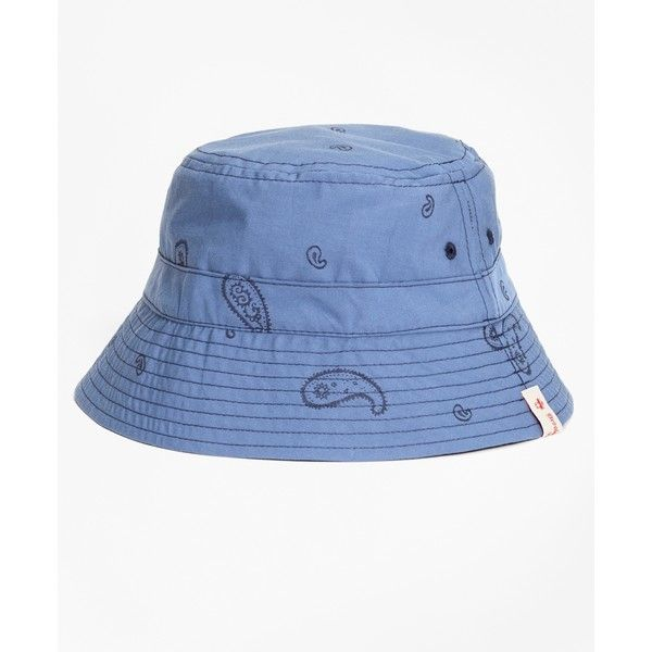 7b97647873a8c Brooks Brothers Reversible Paisley Cotton Jacquard Bucket Hat ( 58) ❤ liked  on Polyvore featuring