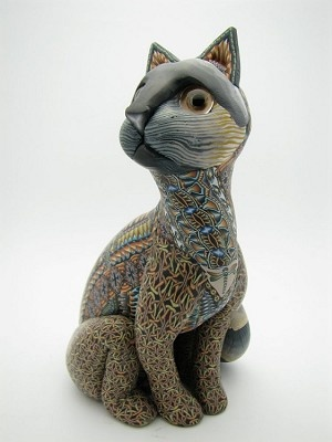 jon anderson polymer artist | Fimo Creations Polymer Clay Papa Cat by Jon Anderson | Lema's ...