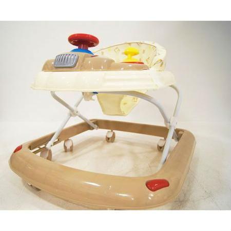 Детские ходунки 107В, бежевые, RiverToys  — 3850р. ------------- Детские ходунки 107ВОтличное качество пластика,  силиконовые колёса, мягкое сиденье, игровая  музыкальная панель и регулируемая высота  от пола.