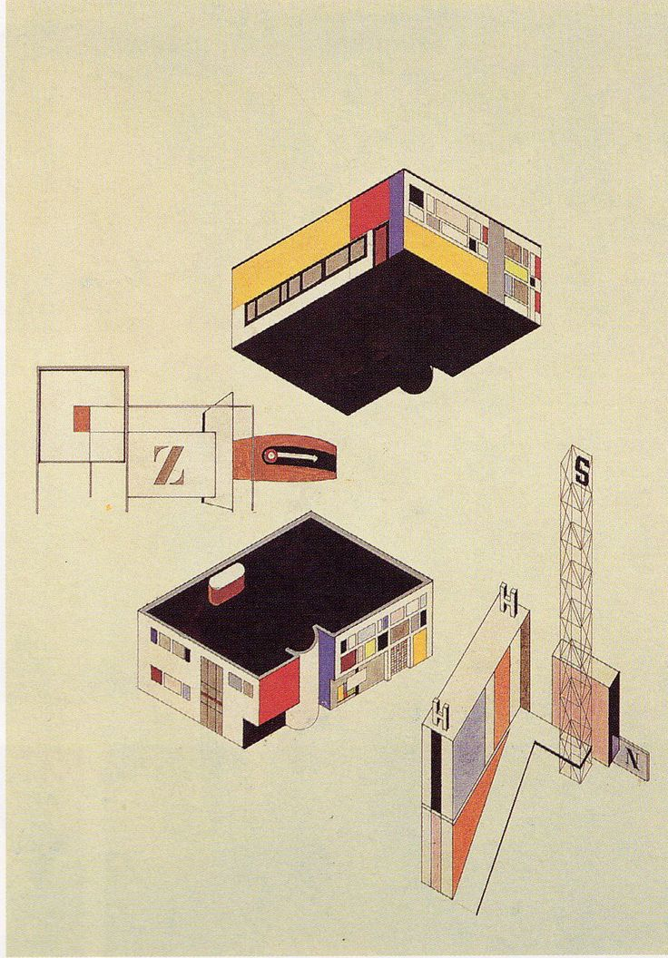 Bauhaus architecture drawings images for Architecture bauhaus