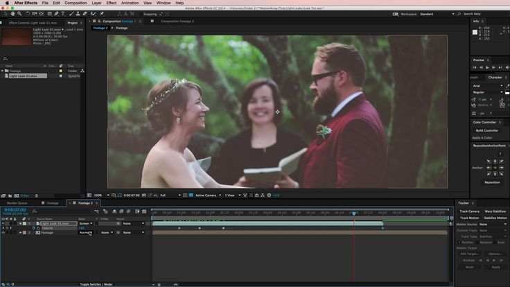 Using Light Leaks In After Effects