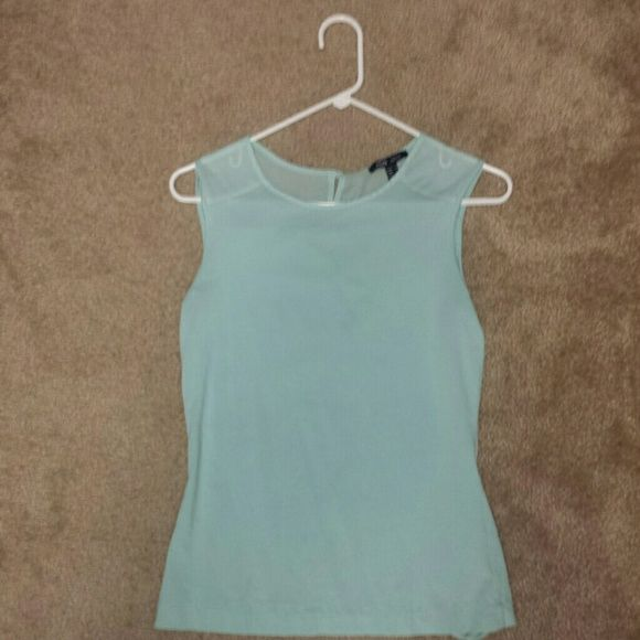 MNG Basics - mint top Mint top - used - has slight stretch - cute buttons down the back - no known/seen imperfection/issues MNG Tops