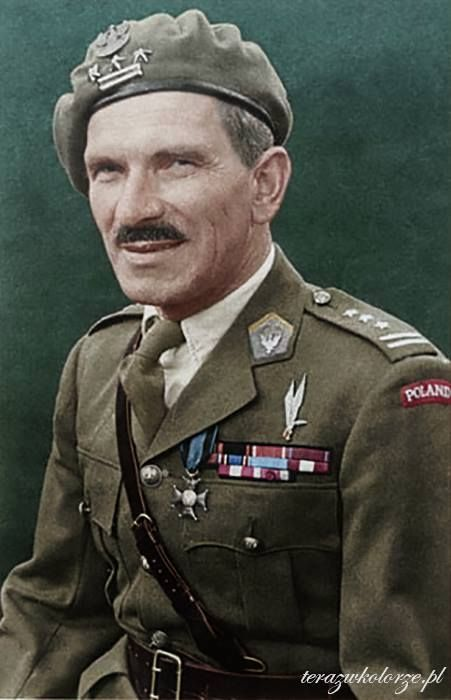 Stanisław Franciszek Sosabowski CBE (Polish pronunciation: [staˈɲiswaf sɔsaˈbɔfskʲi]; 8 May 1892 – 25 September 1967) was a Polish general in World War II. He fought in the Battle of Arnhem (Netherlands) in 1944 as commander of the Polish 1st Independent Parachute Brigade. More info: http://en.wikipedia.org/wiki/Stanisław_Sosabowski (Colorised by Marcin Pasiak from Poland)
