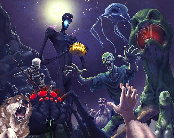 If all the monsters in mine craft were real. This looks epic.