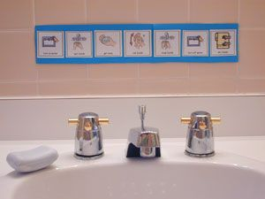Picture Sequencing of Daily Living Skills - washing hands, bathroom, dressing, etc. Free to print
