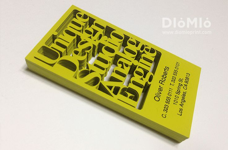 Looking for awesome Custom Die Cut Business Cards? You can find out unique Custom Die Cut Business Cards at DioMioPrint. Cool Custom Die Cut Business Cards.