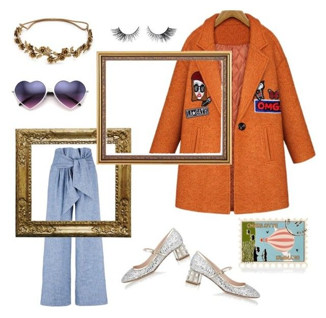 Frame it Don't tame it by creaturesoftweed on Polyvore featuring polyvore fashion style MSGM Miu Miu Charlotte Olympia Jennifer Behr clothing