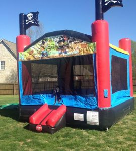Pirate themed bounce house available for rental in the Nashville, TN area from www.itstime2bounce.com