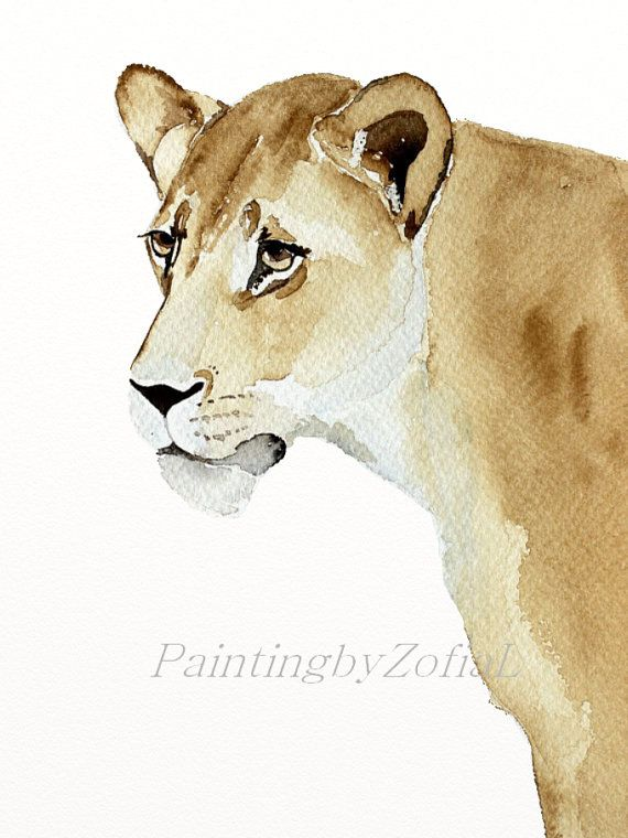 Lonely Lion by Anna on Etsy