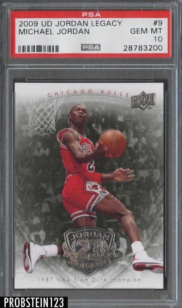 a646049346e 2009-10 Upper Deck Jordan Legacy Michael Jordan Chicago Bulls HOF PSA 10