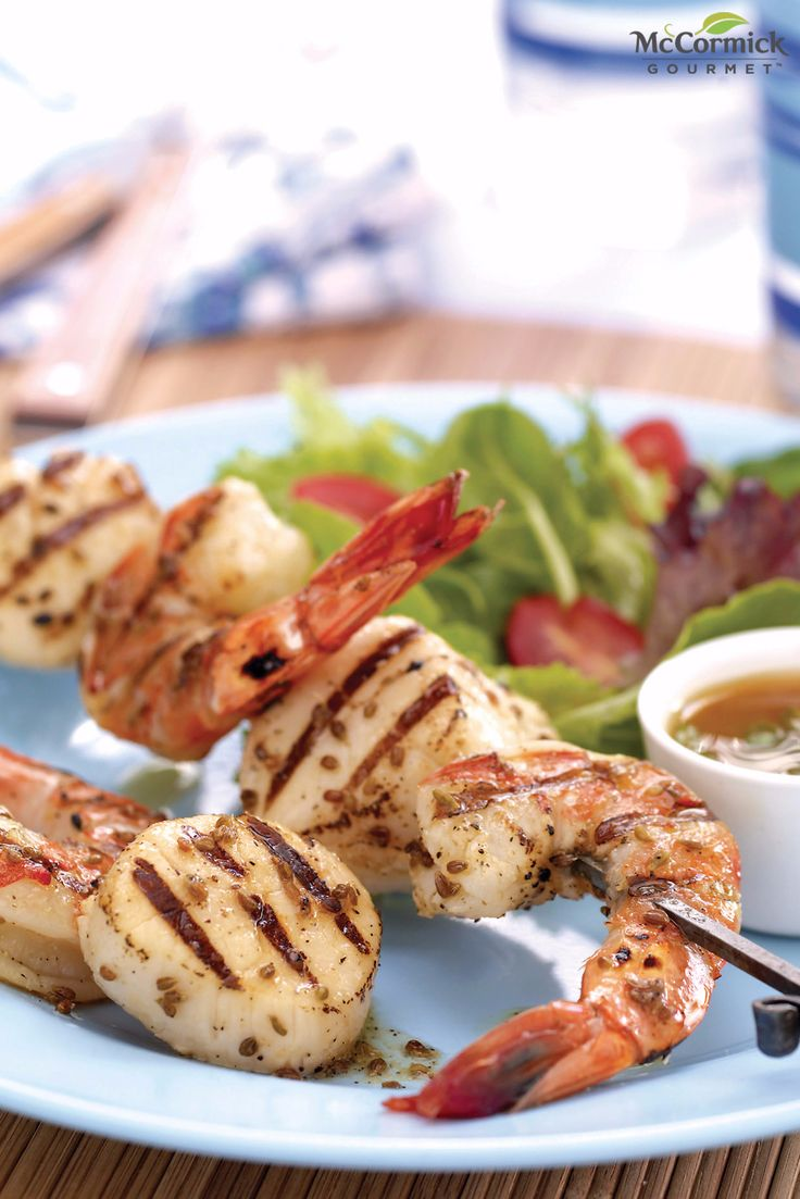 The flavor of anise elevates grilled shrimp and scallop skewers to a ...