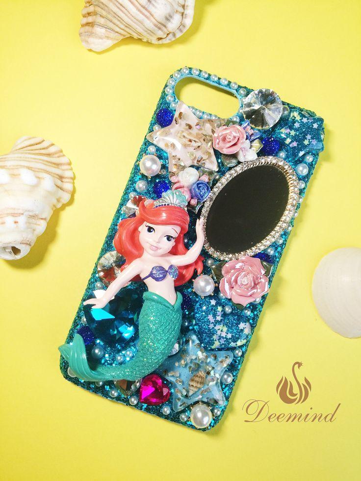 DIY PHONE CASE-The Little Mermaid - Daughters of Triton, shining phone case, blue, cute,personalised phone case for iPhone6PLUS/6SPLUS/7PLUS by Deemindstudio on Etsy