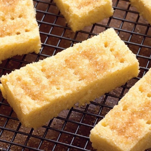 A buttery and delicious shortbread recipe from Mary Berry. The secret ingredient is semolina for that extra crunch! Finish with a sprinkle of demerara sugar.