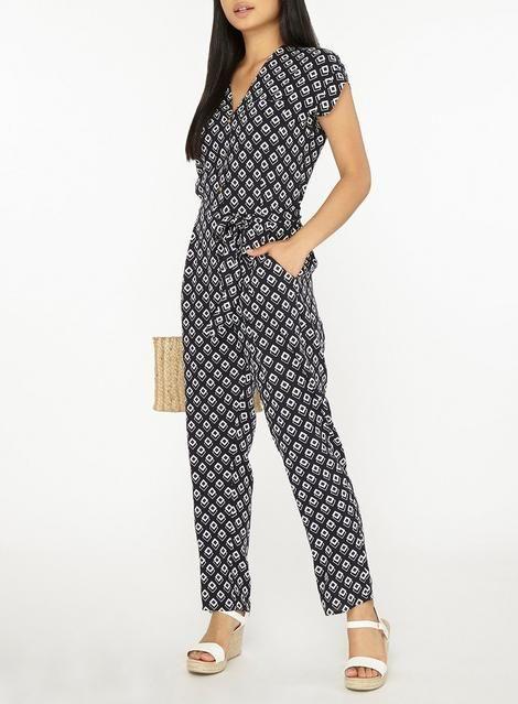 2521eca9aba5 Womens Petite Multi Coloured Geometric Print Jumpsuit- Fl Multi