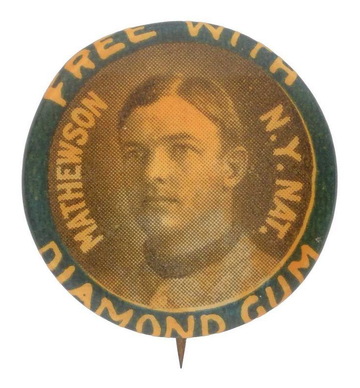 1911 Christy Mathewson PE2 diamante goma Pinback Pin Gigantes de Nueva York | eBay