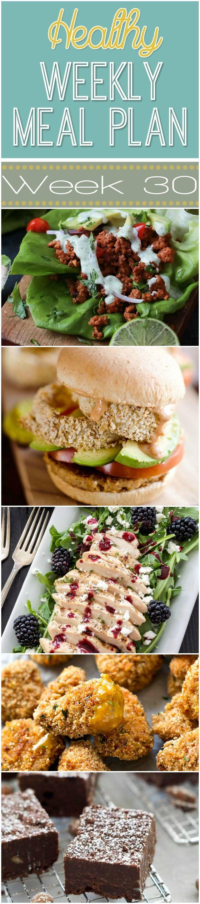 Healthy Meal Plan Week #30