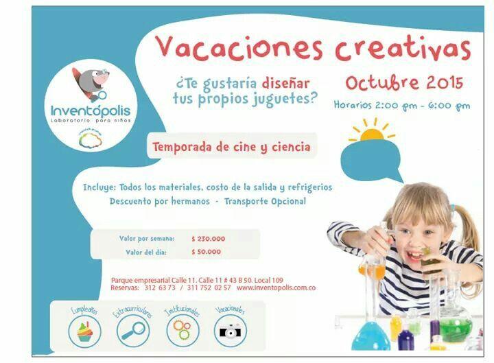 Después de buscar alternativas diferentes, ingeniosas divertidas y educativas para los #niños en esta semana de #RecesoEscolar, hemos encontrado algunas para recomendarles en #Medellín. Nuestro primer recomendado es Inventópolis un maravilloso lugar para explorar, jugar y aprender. Es una gran experiencia para sus #hijos y si mencionan que van por la recomendación de Imantando, recibirán un 15% de descuento.  http://www.inventopolis.com.co