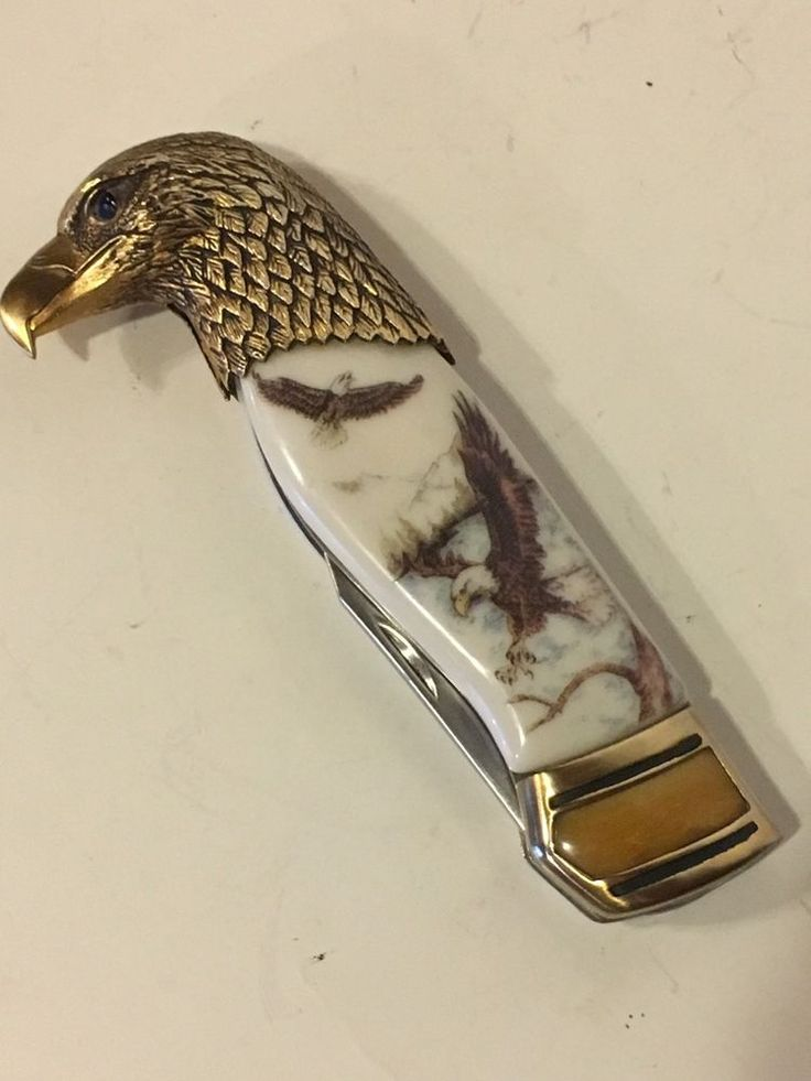 "Franklin Mint Collector Knives ""Eagles In Flight"" Ray Beers Collector Series  