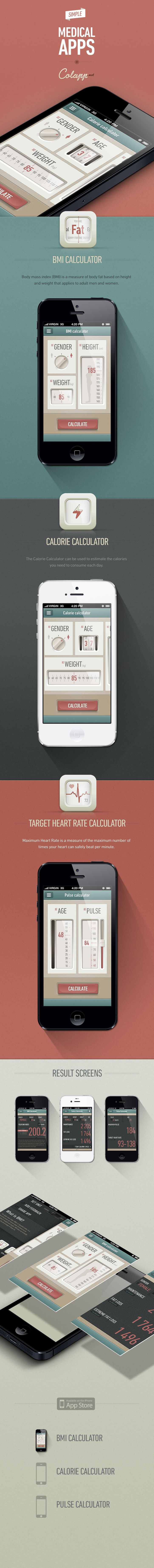 #UI #app #mobile #medical Medical apps by Gabor Jutasi + Daniel Kövesházi, via Behance.net
