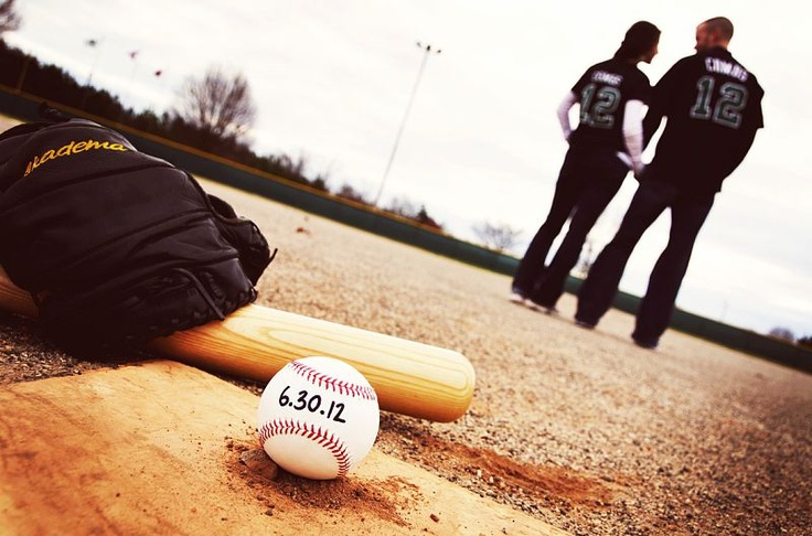 ~Vintage Baseball Engagements by Amber S. Wallace Photography~  http://amberswallacephotography.shutterfly.com