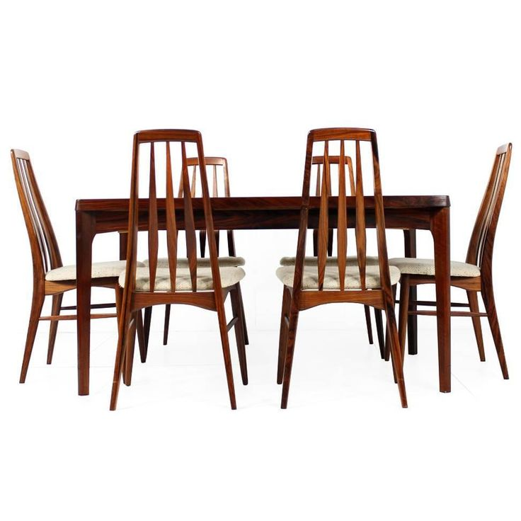 Rosewood Dining Room Set: Amazing 1960s Rosewood Dining Table And Chairs, Koefoed