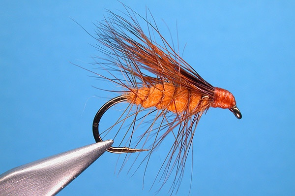 Orange Bucktail Caddis